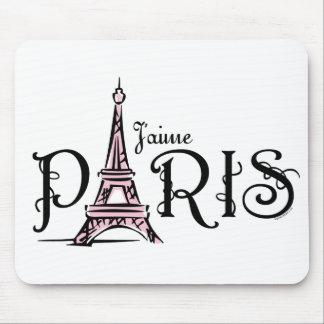J aime París Mousepad Tapete De Raton