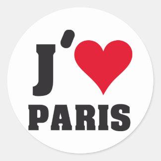 J´AIME PARIS PEGATINA REDONDA