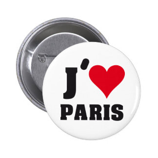 J´AIME PARIS PIN REDONDO DE 2 PULGADAS