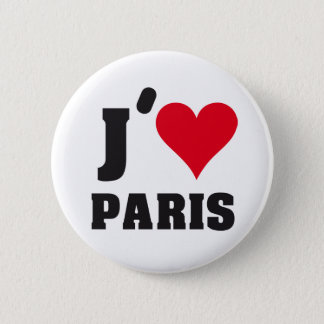 J´AIME PARIS PINBACK BUTTON