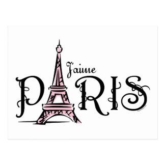 J aime Paris Postcard