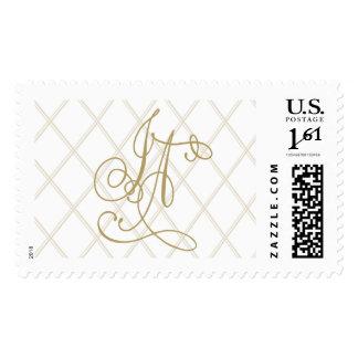 J and A monogram Postage