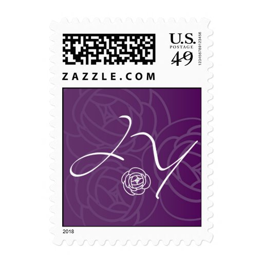 J and Y Flower monogram Stamps