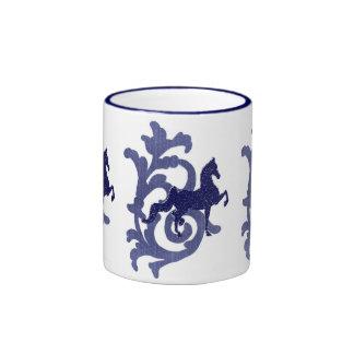 J. azul Mug Taza A Dos Colores