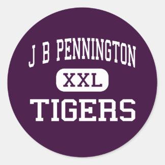 J B Pennington - tigres - alto - Blountsville Pegatina Redonda