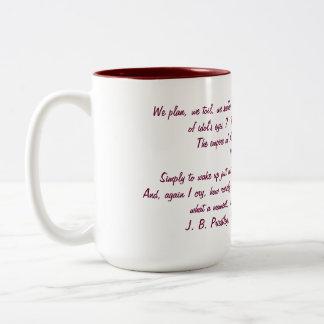 J B Priestly morning mug