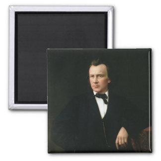 J. Brahms, c.1860 2 Inch Square Magnet