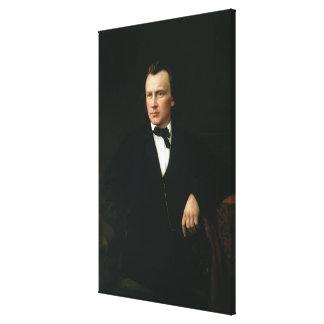 J Brahms c 1860 Stretched Canvas Prints