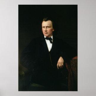 J. Brahms, c.1860 Poster