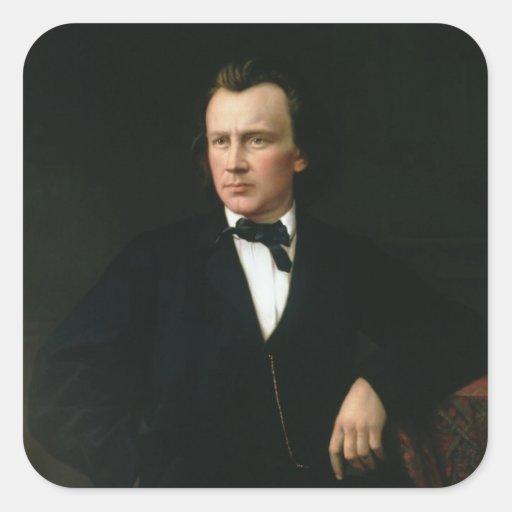 J. Brahms, c.1860 Square Sticker