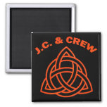 J.C. AND CREW 2 INCH SQUARE MAGNET