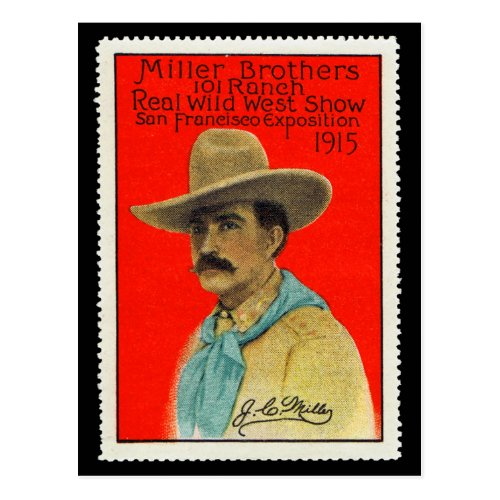 JC Miller of the 101 Ranch Poster Stamp Card
