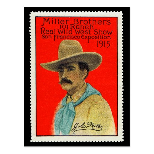 J.C. Miller of the 101 Ranch Poster Stamp Card Post Cards