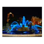J.C. Nichols Fountain in Blue, Kansas City Postcard
