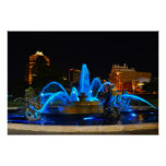 J. C. Nichols Fountain in Blue, Kansas City Print