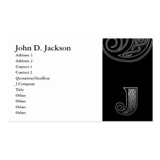 J Celtic Monogram Business Card