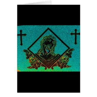 J. Christ 2 ( Aqua ) Greeting Card