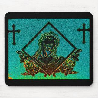J. Christ 2 ( Aqua ) Mouse Pad