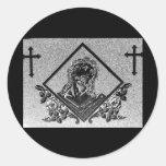 J. Cristo 4 Pegatina Redonda
