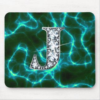"""J """"Diamond Bling"""" Lightning Mousepad"""
