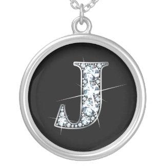 """""""J"""" Diamond Bling Necklace"""