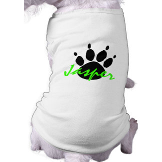 J ~DOG TRACK WITH PET'S NAME EZ2 CUSTOMIZE T-SHIRT