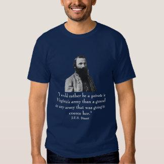 J.E.B. Stuart and quote Tee Shirt