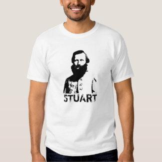 J.E.B. Stuart -- Black and White T Shirt