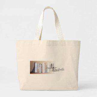 J-E Books and Logo Large Tote Bag
