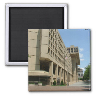 J. Edgar Hoover Building 2 Inch Square Magnet