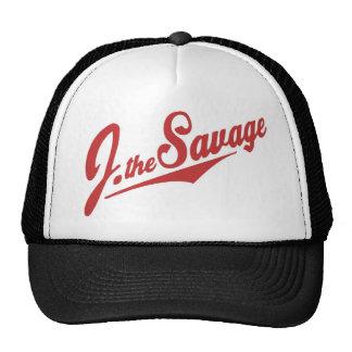 J el logotipo salvaje en rojo gorros bordados