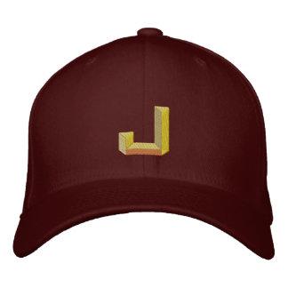 J EMBROIDERED BASEBALL CAP