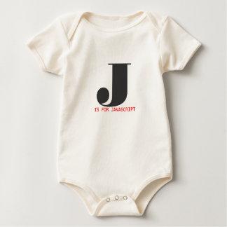 J está para el Javascript Body Para Bebé
