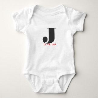 J está para Java Body Para Bebé