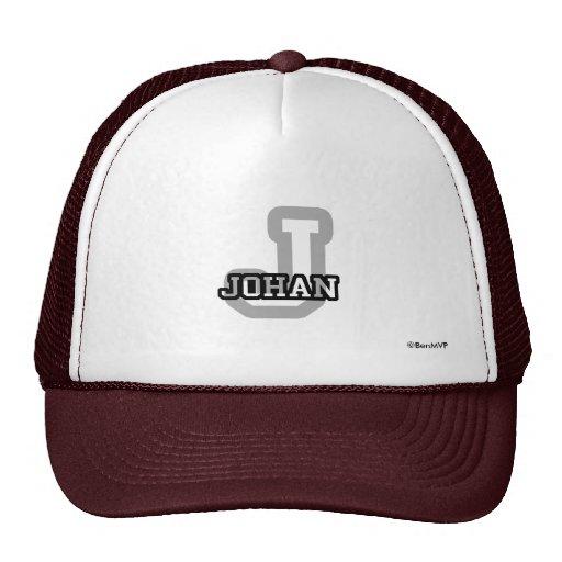 J está para Johan Gorras De Camionero