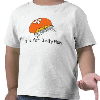 J está para la camiseta de las medusas