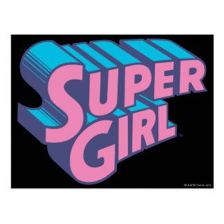 J-Estallido 10 de Supergirl Tarjetas Postales