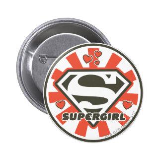 J-Estallido 7 de Supergirl Pin Redondo De 2 Pulgadas