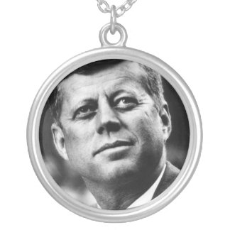J.F.K. SILVER PLATED NECKLACE