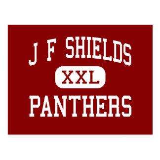 J F Shields - Panthers - High - Beatrice Alabama Postcard
