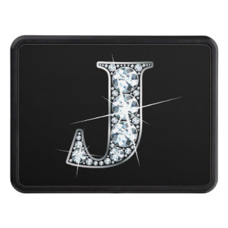 "J Faux-""Diamond Bling"" Tow Hitch Cover"