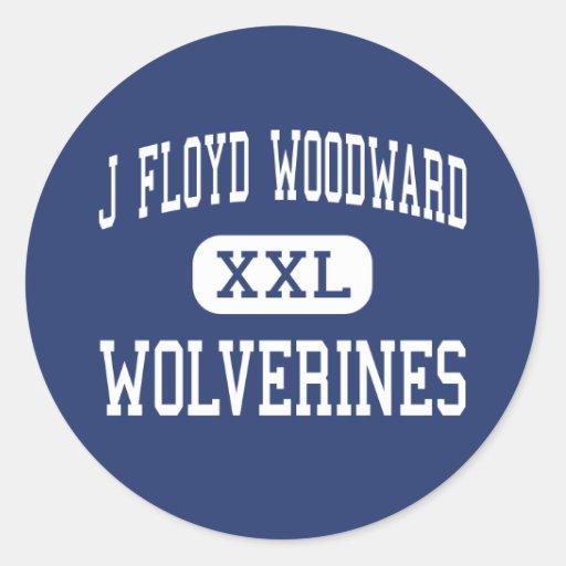 J Floyd Woodward Wolverines Wilkesboro Round Sticker