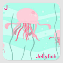J for jellyfish sticker