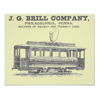 J G Coches 1860 del ferrocarril y del tranvía de Posters