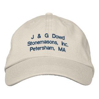 J & G Dowd Stonemasons, Inc.Petersham, MA Embroidered Baseball Cap