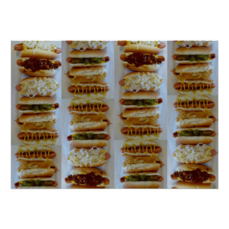 J&G Texas Weiner Hot Dog Poster