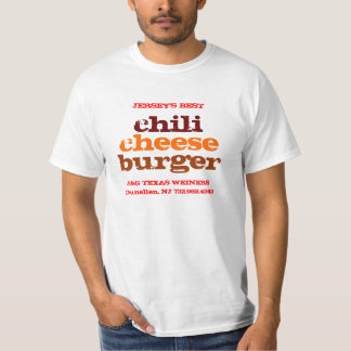 J&G Texas Weiner Jersey's Best Chili Cheeseburger T-Shirt