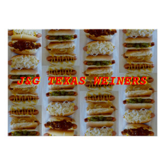 J&G Texas Weiner Poster
