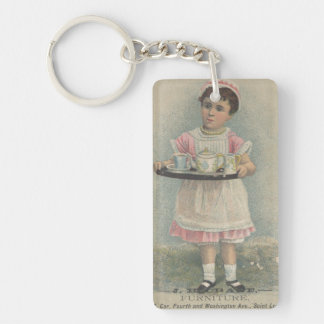 J.H. Crane Furniture Young Girl with Serving Tray Keychain