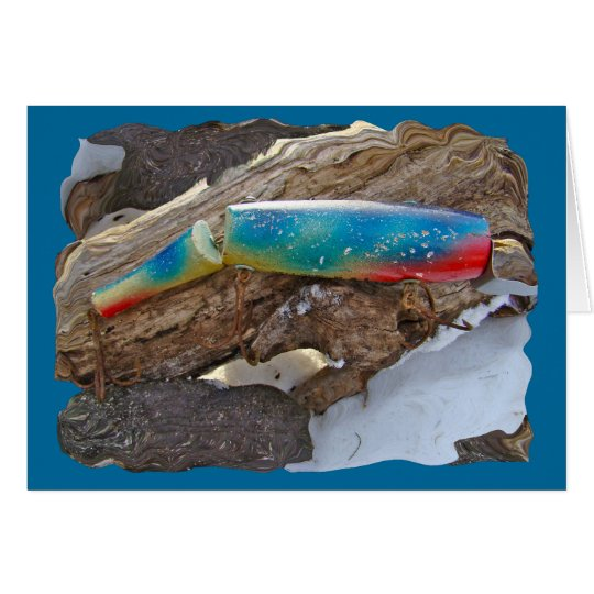 "J & H ""WIG LIT"" Vintage Saltwater Lure Items Card"